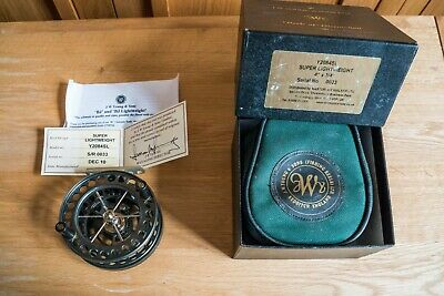 JW Young Y2084SL Super Lightweight Centrepin Reel. Boxed With Certificate. • 150£