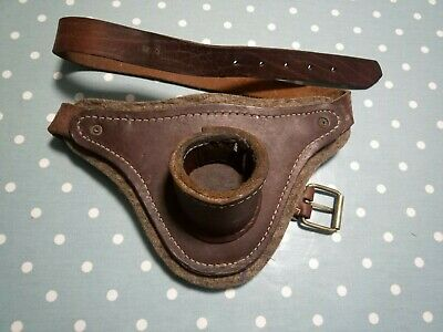 Fishing Rod Butt Holder / Leather Vintage For Game Fishing • 15£