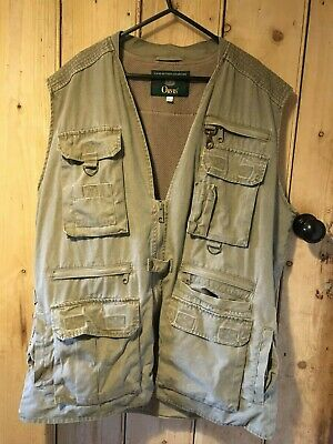 Orvis Performance Fishing Vest, Large, Light Green. Excellent Used Condition. • 20£