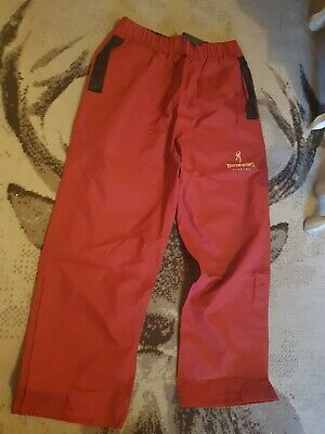 Vintage Browning Red Waterproof Fishing Overtrouser - Bob Nudd • 15£