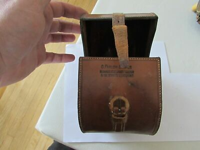 Vintage Large Farlow Leather D Block Salmon Fly Fishing Reel Case Perfect Etc • 102£
