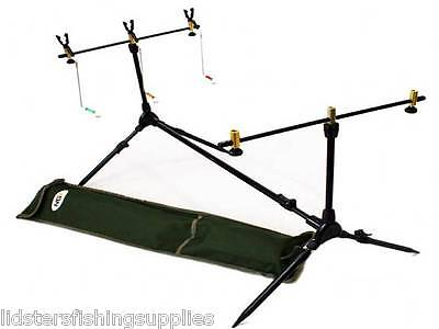 New Complete Fishing Rod Pod With Rests & Indicators • 21.95£
