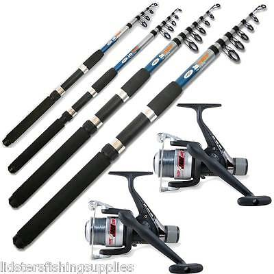 2 Telescopic Lineaeffe Reels And 2 Ngt Fishing Rods 6ft 8ft Or 10ft • 37.95£