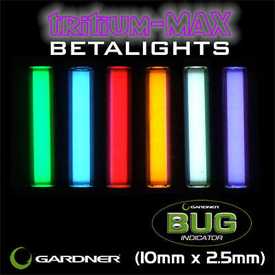 Gardner Tackle NEW Tritium Max Bug Betalights Isotopes *10mm X 2.5mm* • 6.99£