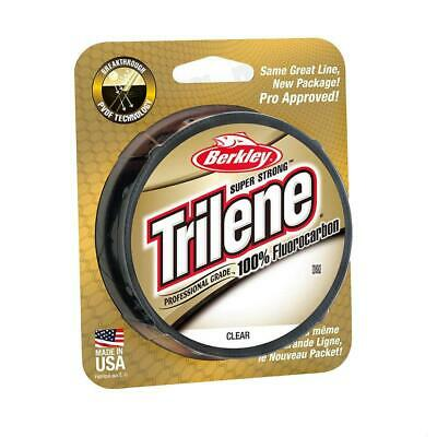 BERKLEY TRILENE 100% FLUOROCARBON FISHING LINE 110YD Or 200YD SPOOL CHOOSE SIZE • 10.99£