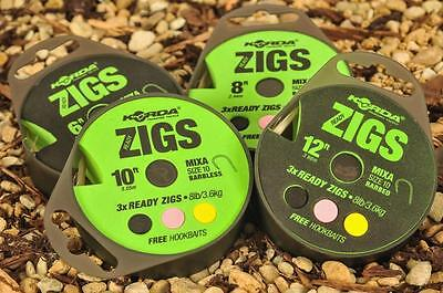 Korda Ready Tied Zig Rigs All Sizes In Stock • 5.99£