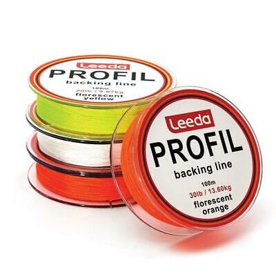 LEEDA PROFIL 100M 20lb 0R 30lb FLY LINE BACKING  TROUT SALMON FISHING • 4.70£