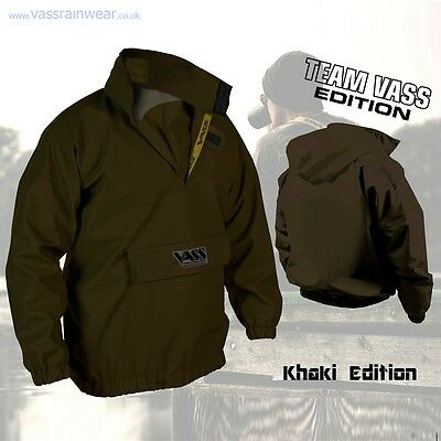 VASS Fishing Waterproof Lightweight Olive Khaki 175 Smock Jacket *All Sizes* • 80.99£