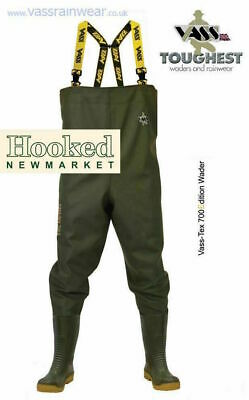 Vass Tex 700 NOVA Chest Waders  -  ALL SIZES 6-13  NEXT DAY DELIVERY • 76.95£