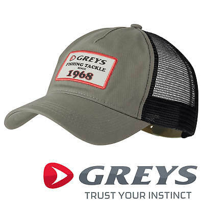 Greys Trucker Baseball Cap 1968 Logo Fishing Strata Green One Size Hat 1374095 • 14.95£