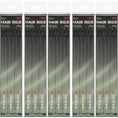 30 X Hair Rigs Barbless Size 8 NGT 12lb Braid 14-16mm Bait Carp Fishing Tackle • 9.16£
