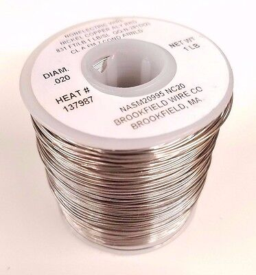 Fishing Leader Line, Solid Monel Trolling Wire, 30Lb, 831' Ft .020 Diameter, USA • 16.74£