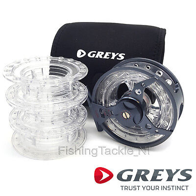 Greys QRS Fly Reel - Quad System Fly Fishing Reel With 3 Spare Spools  • 119.99£