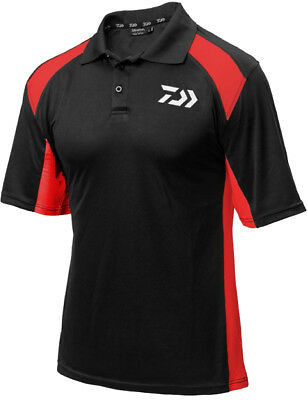 Daiwa Polo Shirt Black/red Dpsbr Rrp£24.99 • 12.99£
