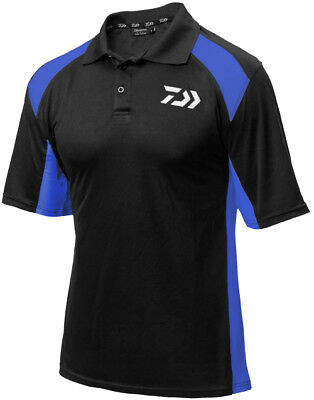 Daiwa Polo Shirt Black/blue Dpsbb Rrp£24.99 • 12.99£