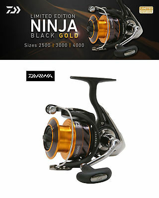 Daiwa Ninja Black & Gold Limited Edition Fishing Reel NJ2500BG • 44.99£