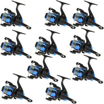 10 Coarse Fishing Reels Star Size 20 For Spinning With 8lb Line Wholesale Trade • 41.37£