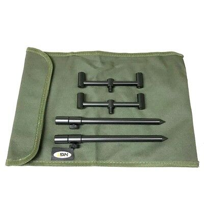 2 Rod Buzz Bar Set Black With Bag 2 20-30cm Bank Sticks 2 13cm Bars Carp Fishing • 26.81£
