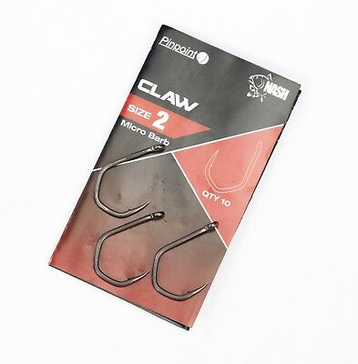 Nash Pinpoint Claw Hooks *All Sizes* NEW Fang Hook • 4.99£