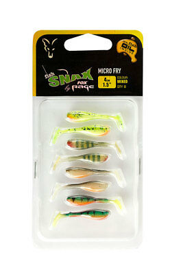 Fox Rage Mixed Colour Micro Lures *All Types* NEW Predator Fishing Soft Lures • 7.99£