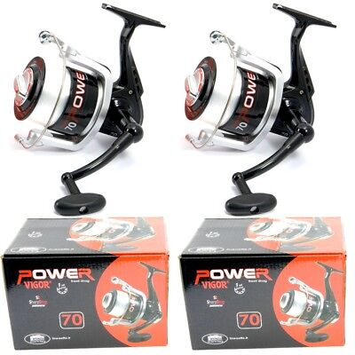 2 New Large Lineaeffe Sea Fishing Vigor Power 70 Beach Pier Reels And Line Reel • 22.95£