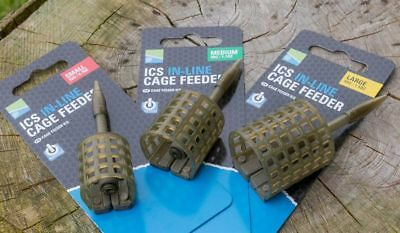 Preston ICS In Line Cage Feeder *Complete Range* NEW Coarse Fishing Feeder • 3.59£