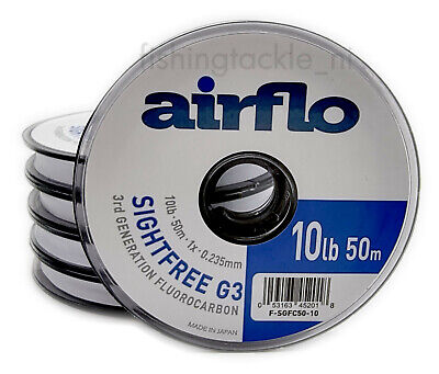 Airflo G3 Sightfree 3rd Generation Florocarbon 50m Fly Fishing Tippet Clear • 7.98£