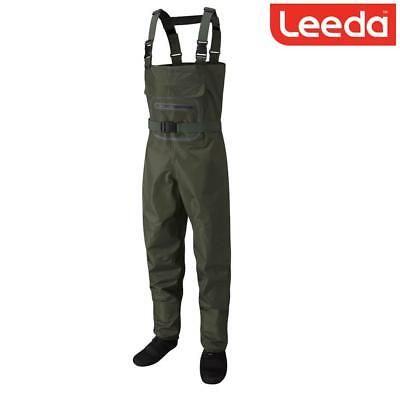 Leeda Profil New Stocking Foot Breathable Fly Fishing Chest Wader - All Sizes • 99.99£