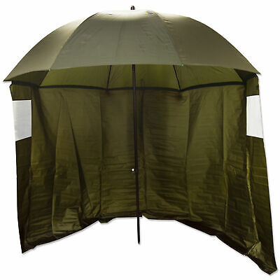86  Olive Top Tilting Fishing Umbrella/Brolly Shelter With Sides And Windows • 37.99£