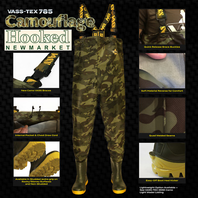 VASS TEX 800-E Camo Edition Camo Chest Waders- All Sizes *Same Day Dispatch* • 99.99£