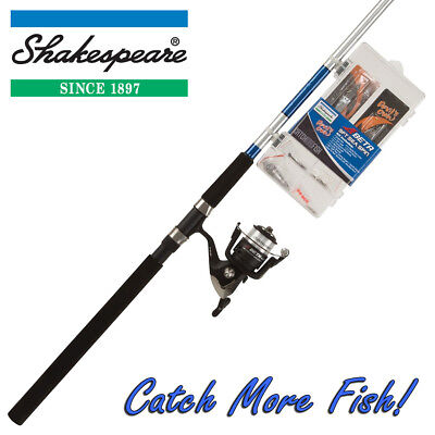 Shakespeare 9ft Sea Spin Kit - Fishing Rod, Reel & Tackle Box 'Catch More Fish'  • 39.99£
