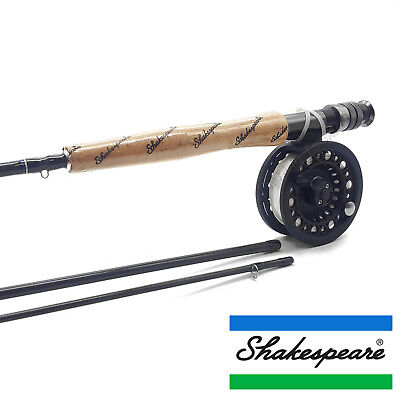 Shakespeare Omni Fly Fishing Combo - Fly Rod, Reel Line & Backing Full Trout Kit • 54.99£