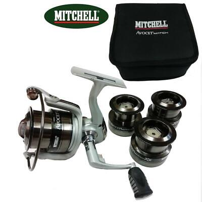 Mitchell Avocet Rz 4000 Match Fishing Reel Front Drag With 3 Spare Spools • 59.99£