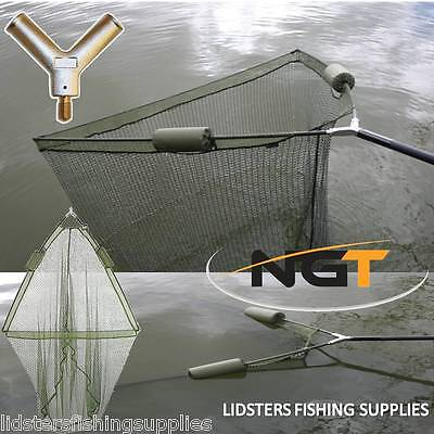 36  Inch Large Carp Pike Fishing Landing Net With Dual 2 Net Floats NGT Tackle • 21.13£