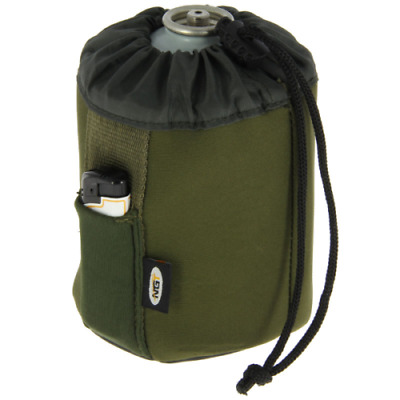 NGT 450g Neoprene Butane Gas Canister Bottle Cover + Lighter Holder Fishing Camp • 5.90£