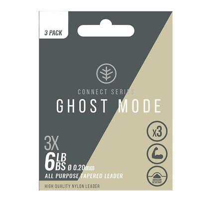 Wychwood Ghost Mode Tapered Leader Connect Series Fly Fishing Leader - 3pk • 7.99£