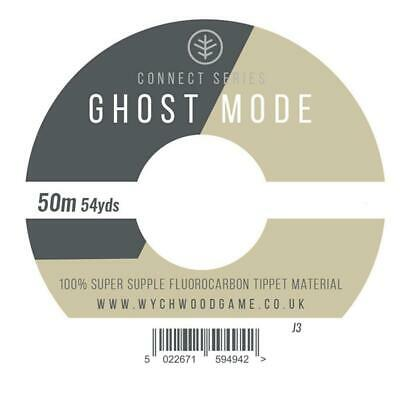 Wychwood Ghost Mode Fluorocarbon Fly Fishing Tippet Line - 50m Spool • 8.99£