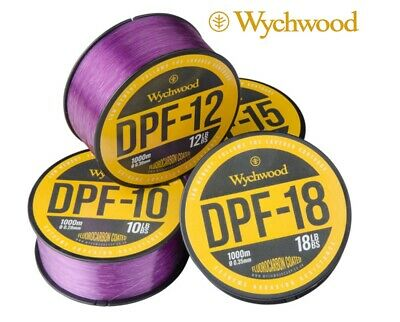 Wychwood DPF Carp Fishing Line 1000m Deep Purple Fluorocarbon Coated Mono • 15.49£