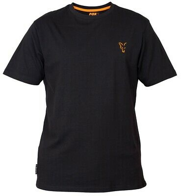 Fox Collection Black And Orange T Shirt NEW Fishing T-Shirt *All Sizes* • 15.99£