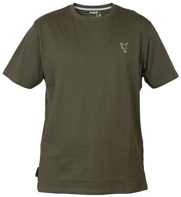 Fox Collection Green Silver T-Shirt NEW Mens Fishing T Shirt *All Sizes* • 15.99£