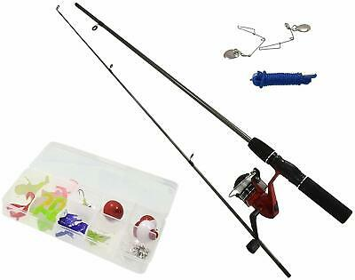 New Complete Beginners Fishing Kit Float Rod Reel Tackle Set Fishing Summer Fun • 17.09£