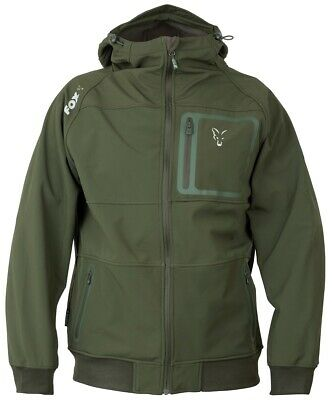 Fox Collection Green Silver Shell Hoody NEW Fishing Hoodie *All Sizes* • 59.99£
