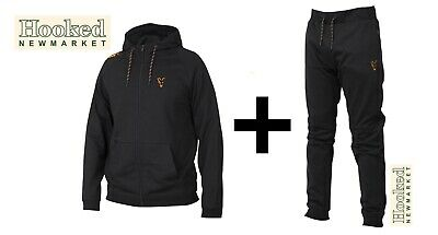 Fox Collection Black & Orange Lightweight Hoody & Jogger Combo **ALL SIZES** • 44.98£