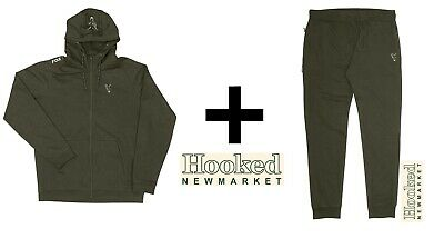 Fox Collection Green & Silver Lightweight Hoody & Jogger Combo **ALL SIZES** • 48.99£