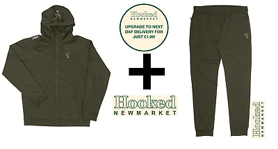 Fox Collection Green & Silver Lightweight Hoody & Jogger Combo **ALL SIZES** • 47.99£