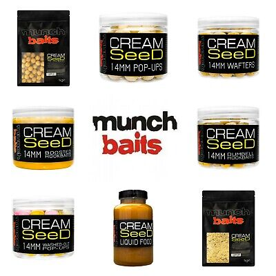 Munch Baits Cream Seed *Full Range, Boilies, Pop Up, Wafters, Liquids, Stick Mix • 7.99£