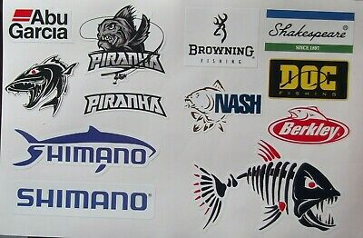 Fishing Stickers- Quality Vinyl Printed Large Waterproof Stickers  • 2.99£