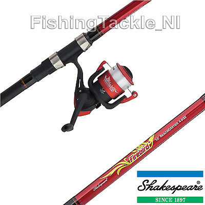 Shakespeare Firebird 12ft Beachcaster Combo - Fishing Rod, Reel & Line Kit • 34.99£