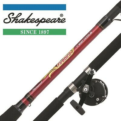 Shakespeare Firebird 7ft Boat Combo - Fishing Rod, Reel & Line Sea Fishing Kit • 42.99£