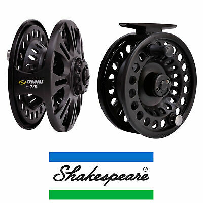 Shakespeare Omni Fly Reel 6/7 Or 7/8 Fishing Lightweight Quick Release Spool • 19.99£